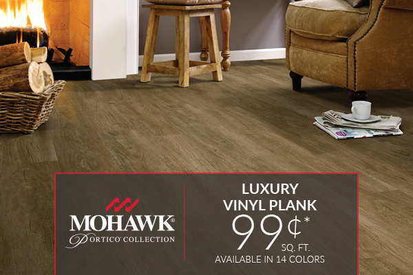 Mohawk Portico Collection Sale - Luxury Vinyl Plank starting at only 99¢ sq.ft. Cannot be combined with any other offer.